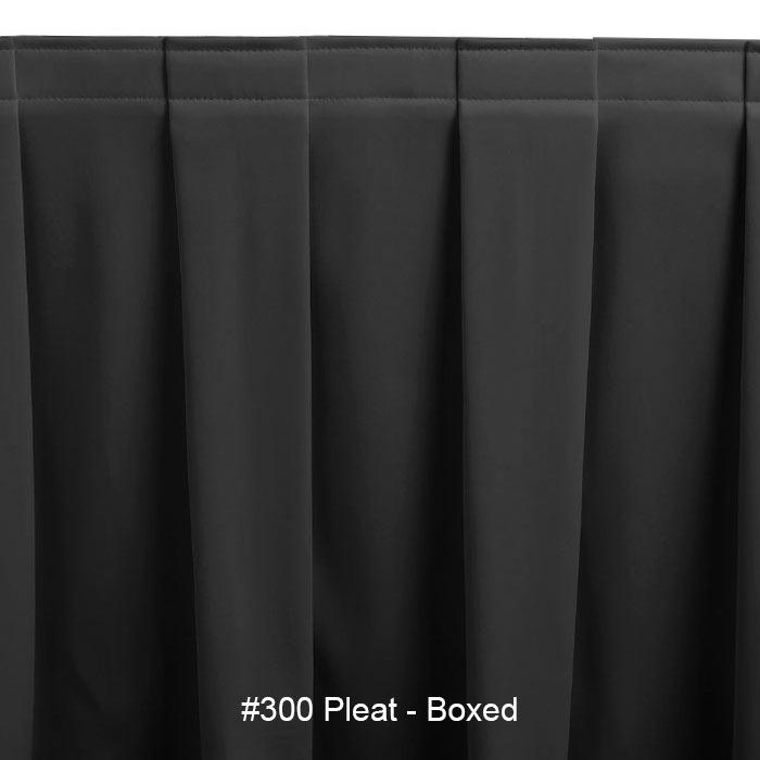 Snap Drape SEQ3V21629 WHT Sequel 21.5-ft Table Skirt, Boxed Pleat, Velcro Attachment, White