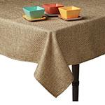 """Snap Drape TBUR5252 52""""x52"""" Burlap Tablecloth, Machine Washable"""