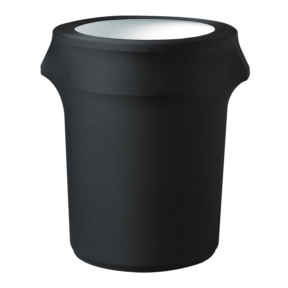Snap Drape TCCCC44 BLK Contour Trash Can Cover for 44-gal, Black
