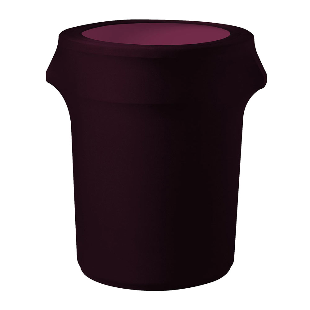 Snap Drape TCCCC44 BUR Burgundy, Round Fitted Trash Can Cover, 44-gal