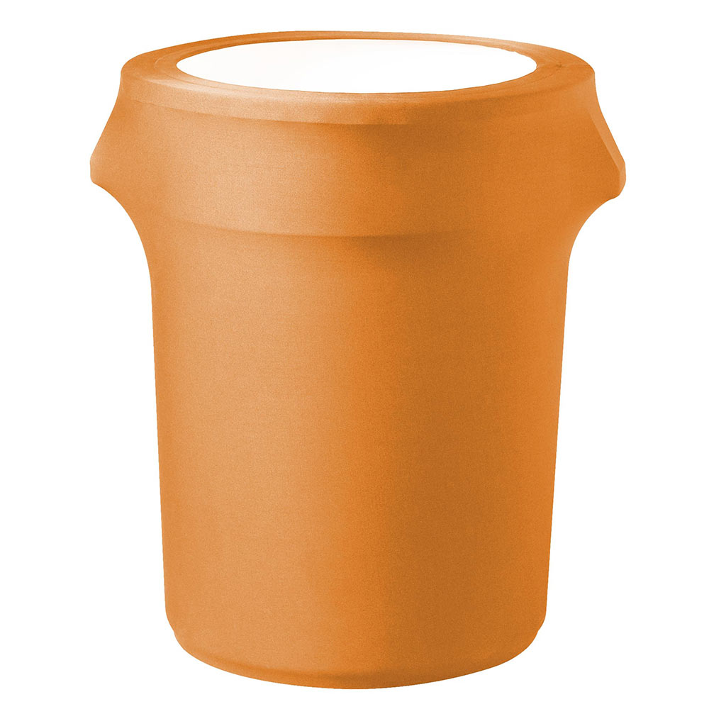 Snap Drape TCCCC55 MAN Mango, Round Fitted Trash Can Cover, 55-gal