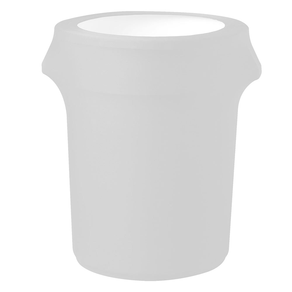 Snap Drape TCCCC55 WHT Contour Trash Can Cover for 55-gal, White
