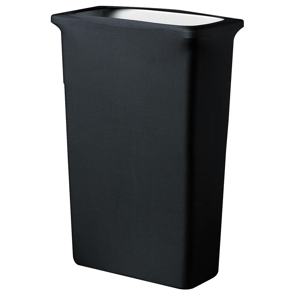 Snap Drape TCCCCSJ BLK Black, Rectangle Fitted Trash Can Cover, 16-gal