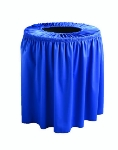 Snap Drape TCCWYN55 BLK Black, Round Drape Trash Can Cover, 55-gal