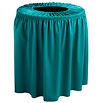 Snap Drape TCCWYN35 TL Teal, Round Drape Trash Can Cover, 35-gal