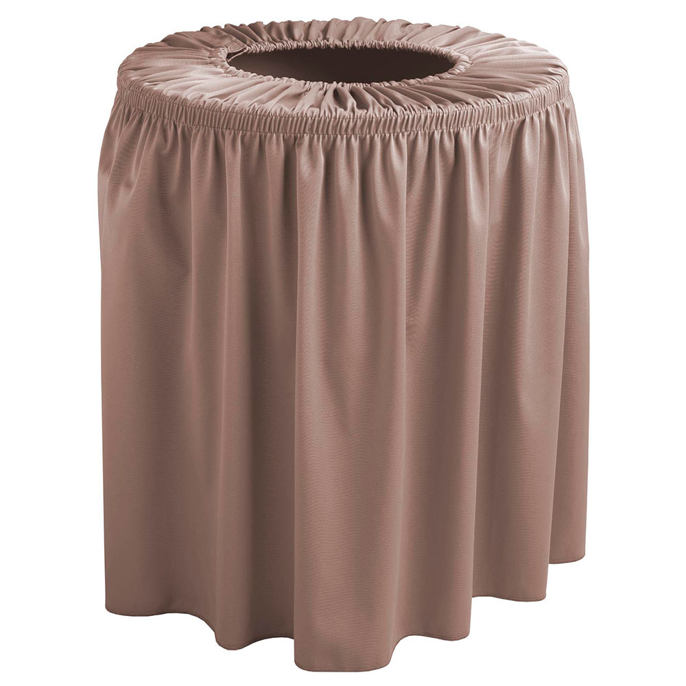 Snap Drape TCCWYN44 SBLE Sable, Round Drape Trash Can Cover, 44-gal