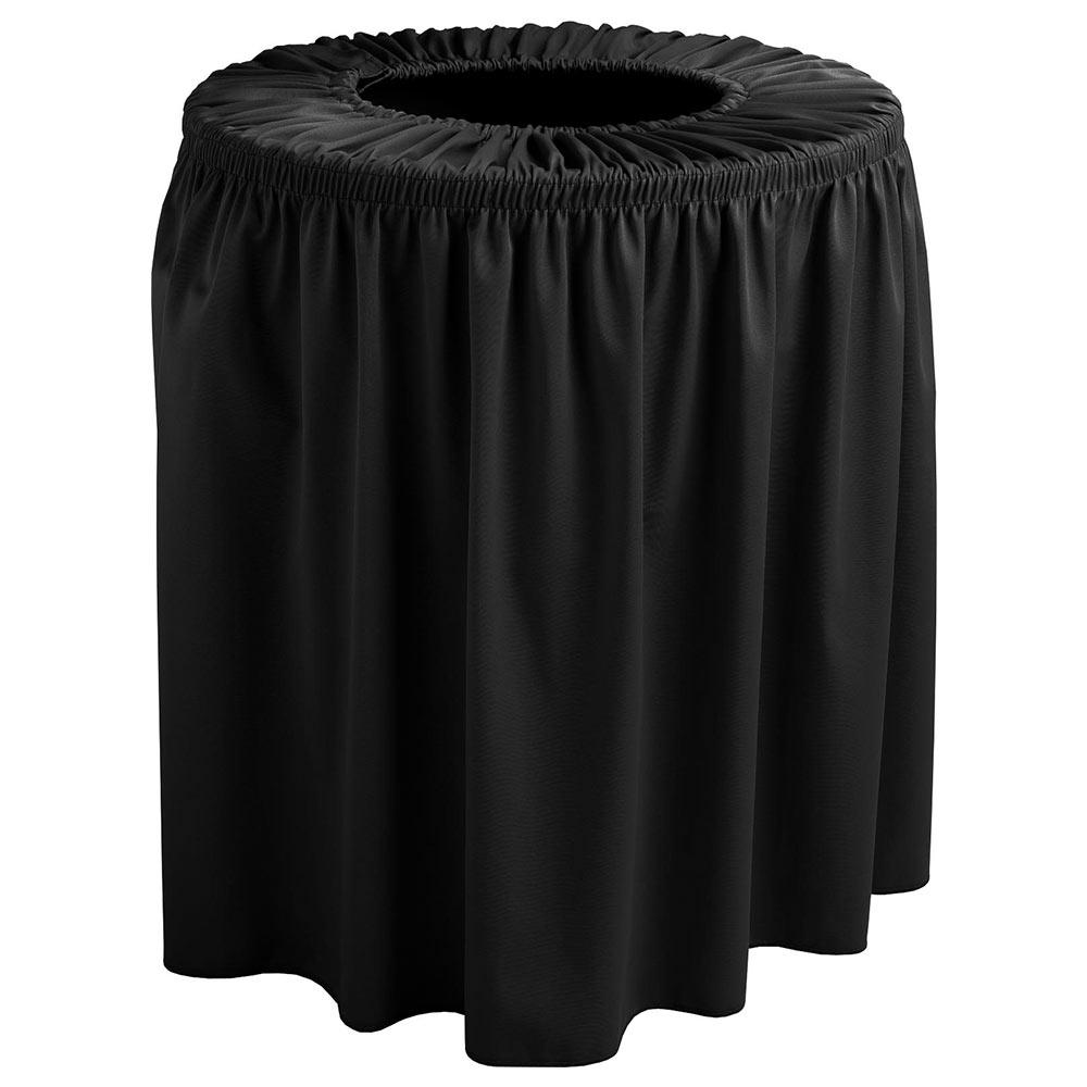 Snap Drape TCCWYN55 BLK Black, Round Drape Trash Can Cover, 55-gal