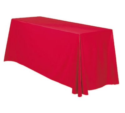 Snap Drape TCRIV12886 BUR 6-ft Riviera Throw Table Cover w/ Radius Corners, Burgundy