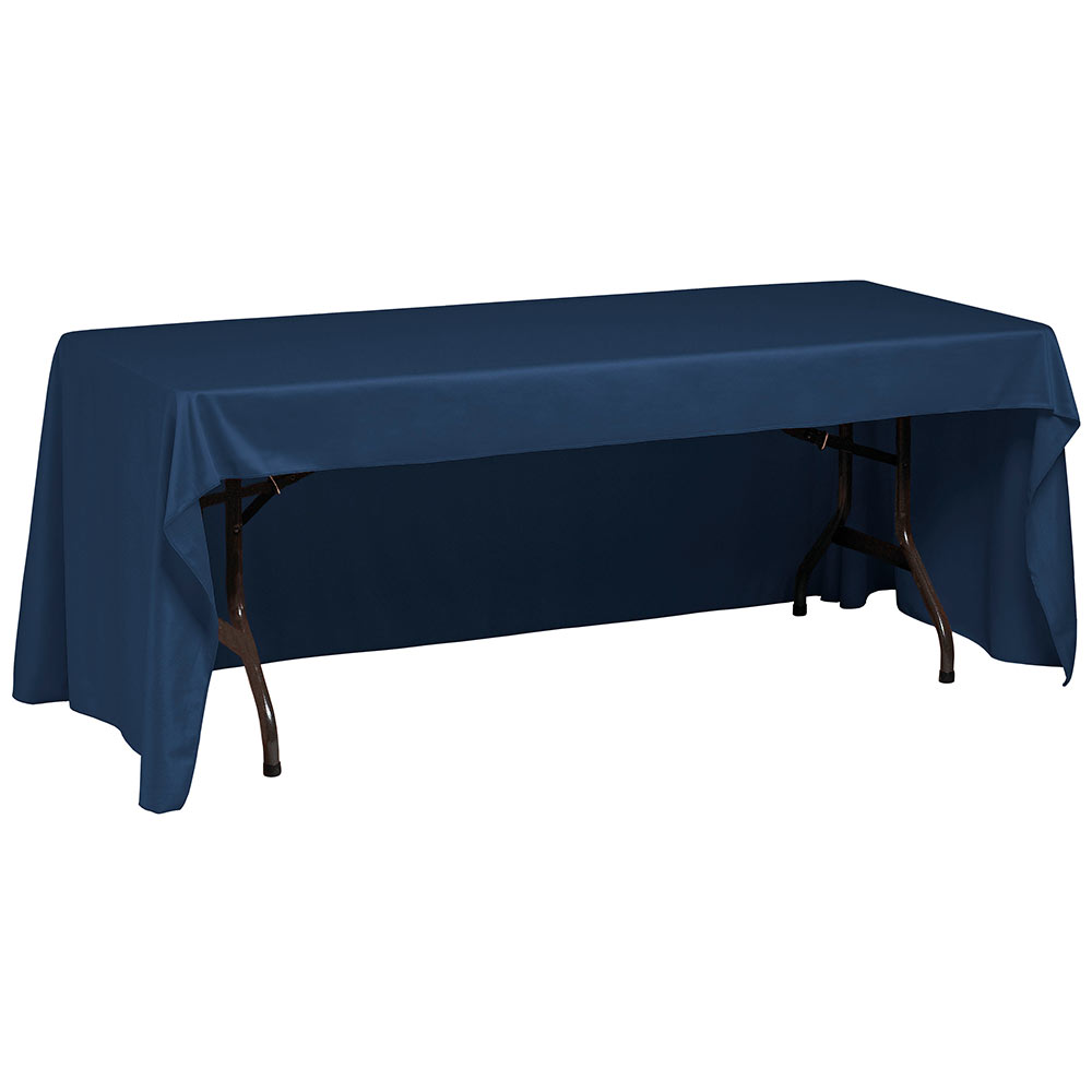 "Snap Drape TCWYN630CC DKBLU Wyndham Conference-Cut Throw Table Cover, 6-ft x 30"", Dark Blue"