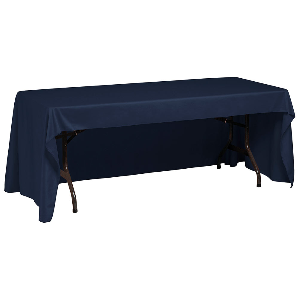 "Snap Drape TCWYN630CC NVY Wyndham Conference-Cut Throw Table Cover, 6-ft x 30"", Navy"