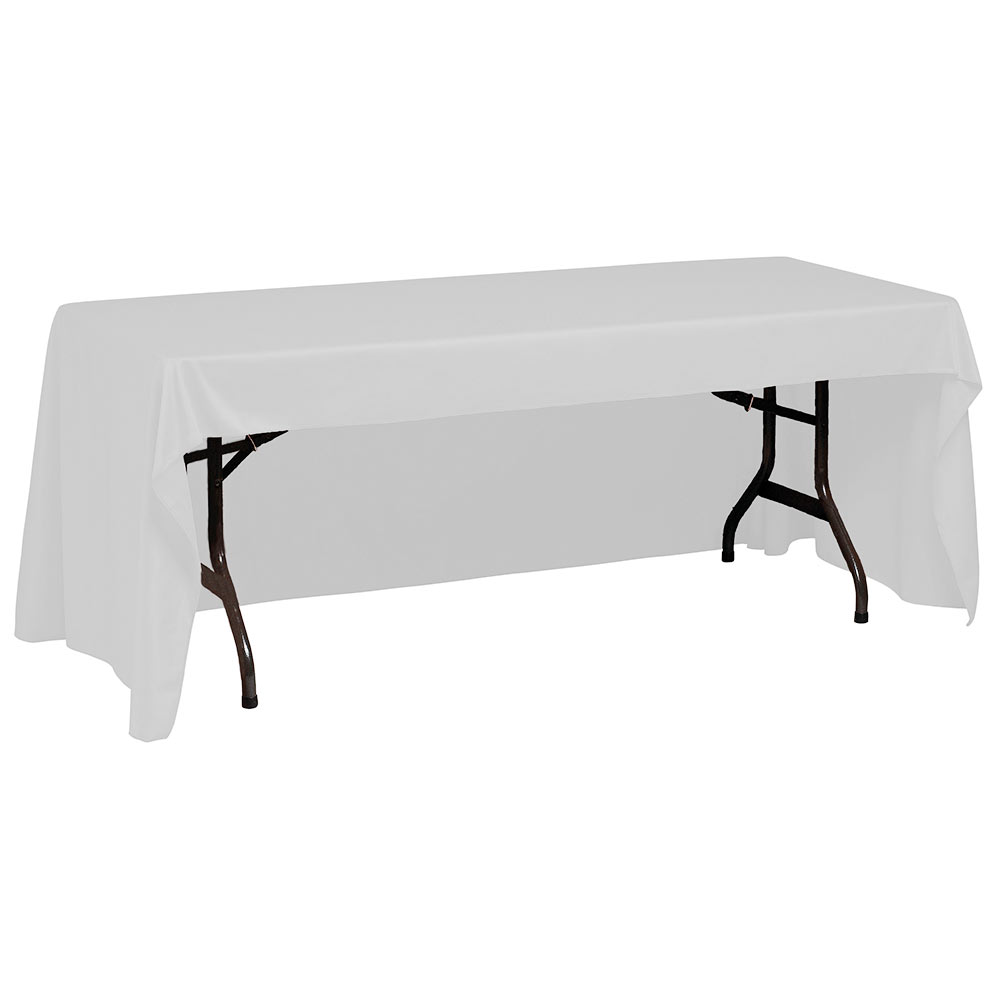 "Snap Drape TCWYN630CC WHT Wyndham Conference-Cut Throw Table Cover, 6-ft x 30"", White"