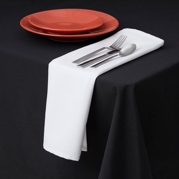 "Snap Drape TMKT5252ODK 52"" Square Tablecloth - Overlocked, Black"