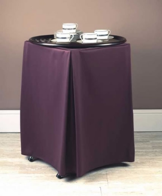 "Snap Drape TRYWYN31 BUR Wyndham Tray Stand Cover for Stands 31"" To 36"" High, Burgundy"