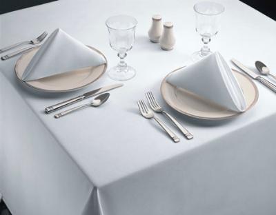 "Snap Drape TSIG4444HMED Signature 44"" x 44"" Hemmed Tablecloth, Medium, Spun Polyester"