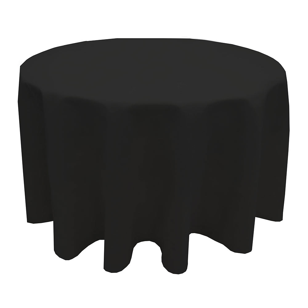 Snap Drape TULT120RODK Nouveau Ultraspun 120-in Round Overlocked Tablecloth, Dark