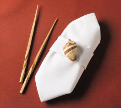 "Snap Drape TULT4444HWH Nouveau Ultraspun 44"" x 44"" Hemmed Tablecloth, White"