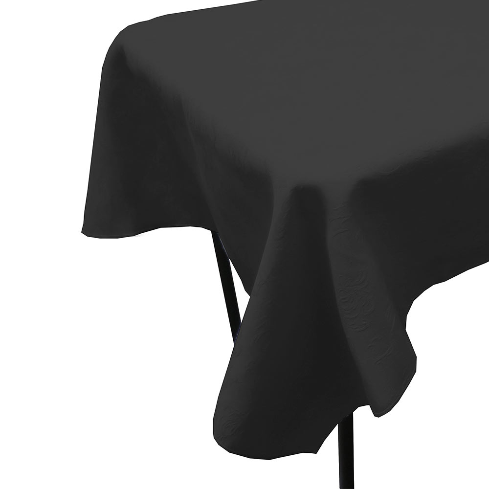 "Snap Drape TWIN5252HDK Windsor 52"" x 52"" Hemmed Tablecloth w/ Damask Pattern, Dark"