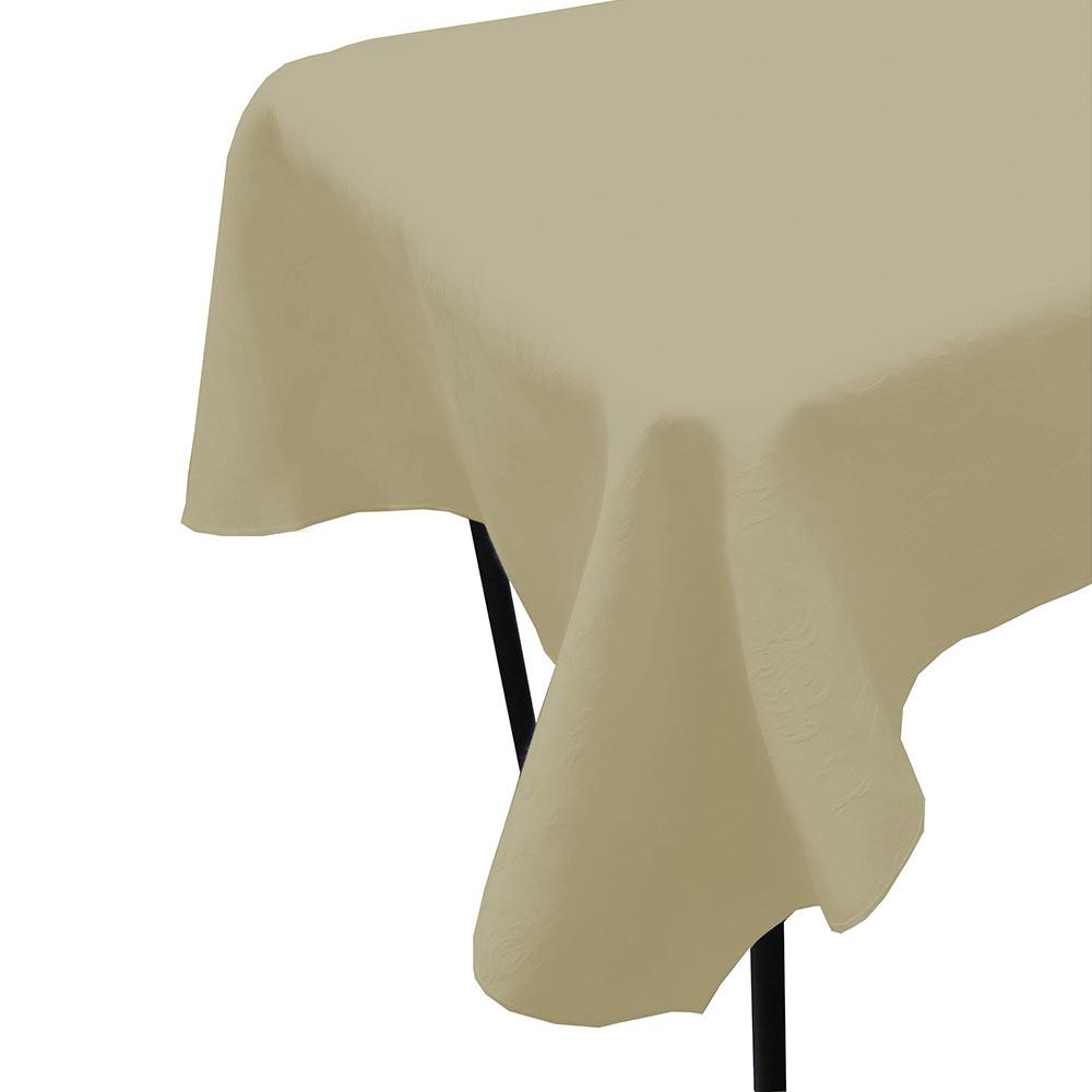 "Snap Drape TWIN5252HMED Windsor 52"" x 52"" Hemmed Tablecloth w/ Damask Pattern, Medium"