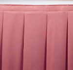 Snap Drape WYN2V17629 BUR Wyndham 17.5-ft Table Skirt, Accordion Pleat, Velcro Attachment, Burgundy