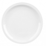 Mayfair 010 8-in Round Narrow Rim Porcelain Plate, White