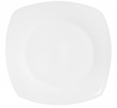 Mayfair 039SM Square Porcelain Plate, 6 x 6-in, White