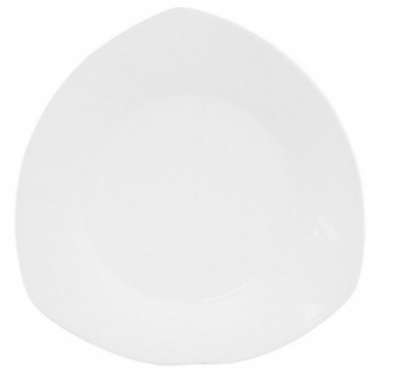 Mayfair 045 Trio Coupe Porcelain Plate, 10 x 10 x 10-in, White
