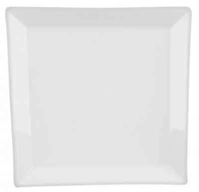 Mayfair 054 Bloc Square Porcelain Plate, 12 x 12-in, White