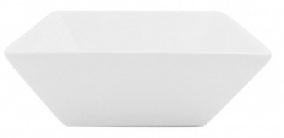 Mayfair 066S 10-oz Square Porcelain Bowl, 5 x 5 x 2-in, White