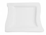 Mayfair 089SM Porcelain Twist Plate, 8 x 8-in, White