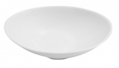 Mayfair 110XXD Round Porcelain Iza Bowl, 10 x 7 x 3-in, White