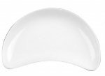 Mayfair 113 Porcelain Crescent Plate, 8 x 4.5-in, White