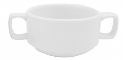 Mayfair 149 8-oz Porcelain Lugged Soup Bowl, 3.75-in, White