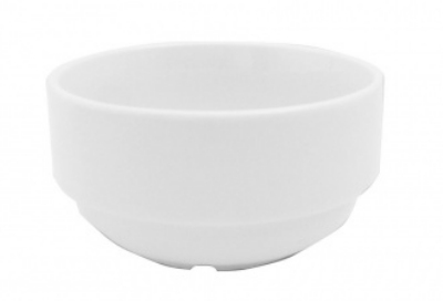 Mayfair 150SM 8-oz Porcelain Stacking Soup Bowl, 3.75-in, White