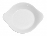 Mayfair 170 12-oz Round Porcelain Eared Baking Dish, 8.25-in, White