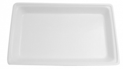 Mayfair 208W 6-qt Single Porcelain Food Pan For Rectangular Chafer, White