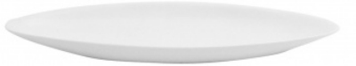 Mayfair 231 Porcelain Cannon Dish, 14 x 4.5 x 1.25-in, White