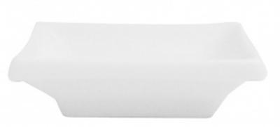 Mayfair 358 Rectangular Porcelain Sauce Dish, 4 x 2.5-in, White