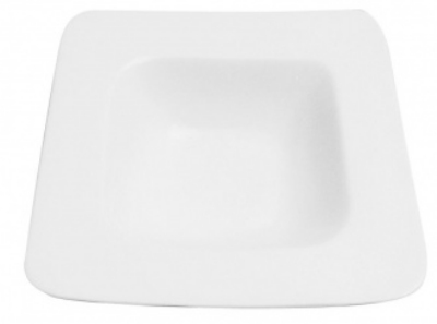 Mayfair 391 16-oz Porcelain EZ Square Pasta Soup Plate, White