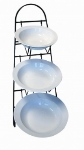 Mayfair 40302 Vola Display Stand w/ 3-White Porcelain Ora Bowls
