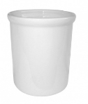Mayfair 406L 2-qt Porcelain Round Dressing Pot, White