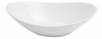 Mayfair 419 Porcelain Dragon Bowl, 16 x 12-in, White