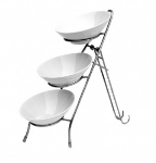 Mayfair 469-3B 3-Bowl Galaxy Server w/ Stainless Stand