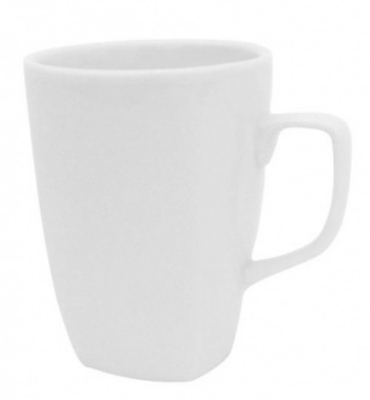 Mayfair 502 11-oz Porcelain Deco Mug, White