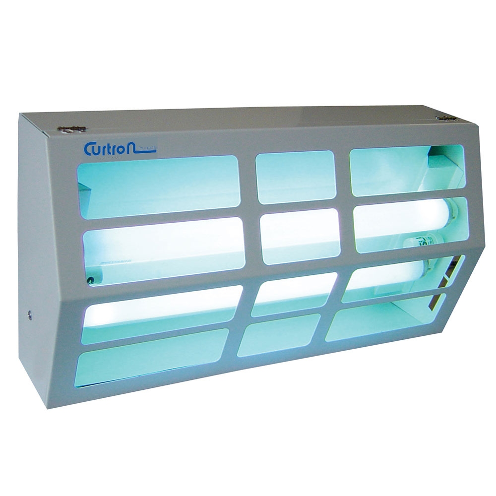 Curtron BL300 Powder-Coated Silent Fly Trap w/ 80-Watt UV Light, Covers 1800-sq ft, White