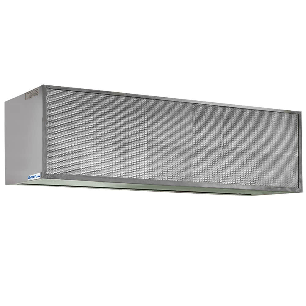 "Curtron S-IBD-48-1 48"" Insect Control Air Curtain for Commercial Back Door - (1) Speed, Aluminum"