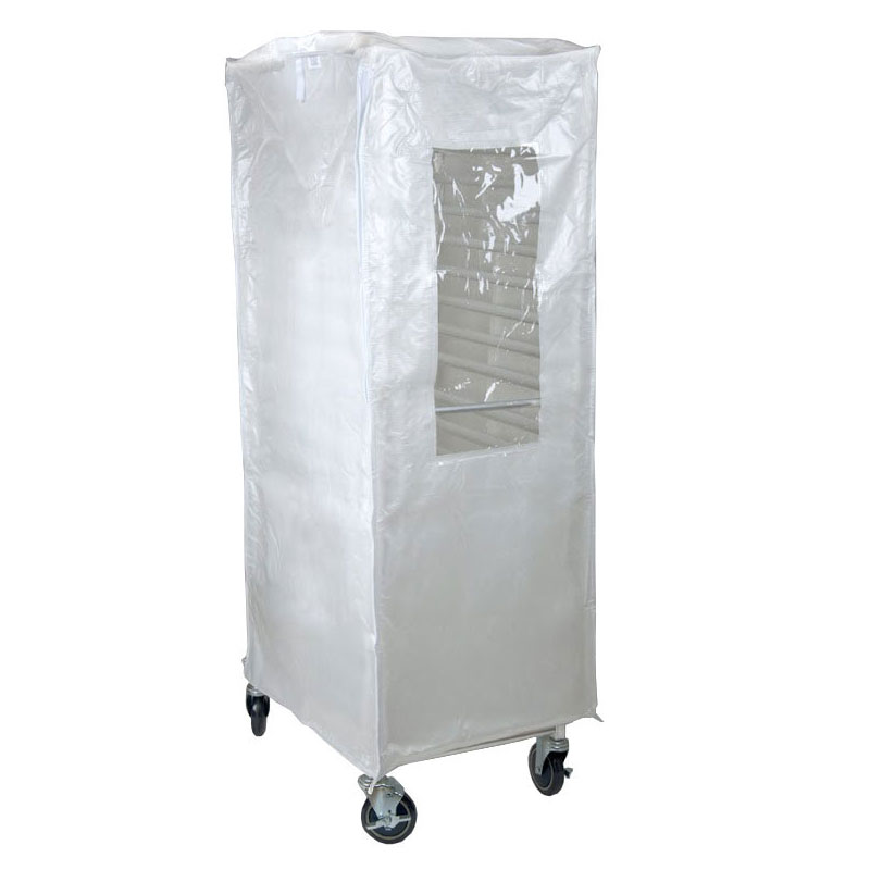 Curtron SUPRO-20-TW-C Standard Rack Cover w/ 20-oz Polyester Reinforced PVC, Clear Viewing Flap