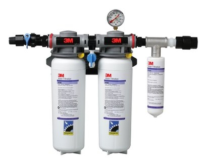 3M Cuno 5624102 DP390 Manifold Filter System w/ Shut Off Valve, For BEV & ICE, 0.2-Micron