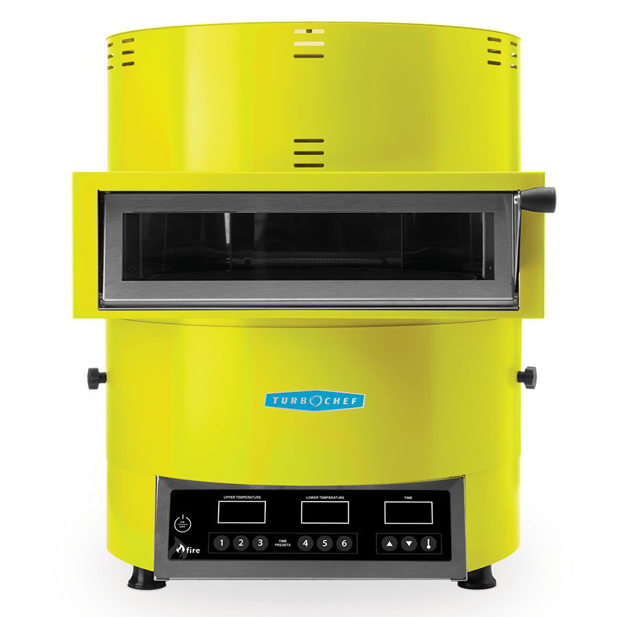 TurboChef FIRE Countertop Pizza Oven - Single Deck, 208-240v/1ph, Yellow
