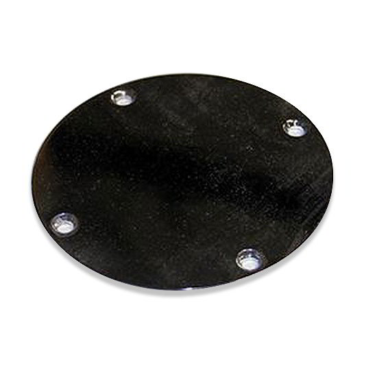 True 831233 Round Cover, Chrome Plated, To Be Used When Draft Standard Not Required
