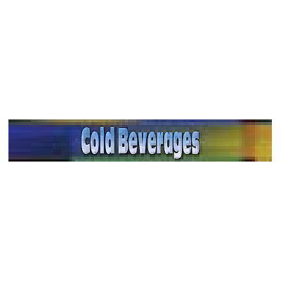 True 883851 Sign, Cold Beverages, Blue & Green, for GDM5, GDM5PT, GDM5PTS & GDM5S